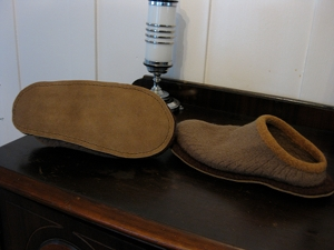 Newly re-soled slippers
